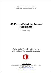 MS PowerPoint ile Sunum Hazırlama - Öğretim Teknolojileri Destek ...