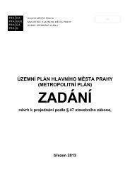 Návrh zadání Územního plánu - Magistrát hl. m. Prahy