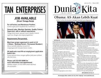 Edisi 176 - 1 Maret 2009 - Dunia Kita