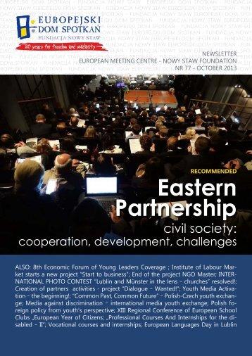 NEWSLETTER - Europejski Dom Spotkań Fundacja Nowy Staw