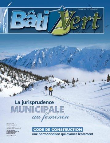 VOLUME 15 NO 1 JANVIER 2011 - COMBEQ