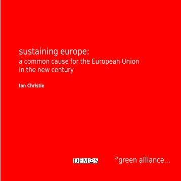 Sustaining Europe