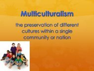 Effects of Multiculturalism