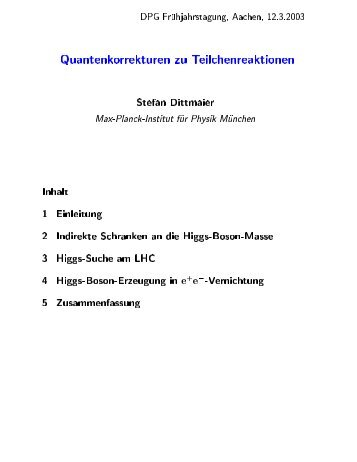 PDF-FILE - DPG Tagung 2003 in Aachen