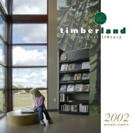 2002 Annual Report - Timberland Regional Library