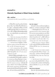 Clinically Significant of Blood Group Antibody