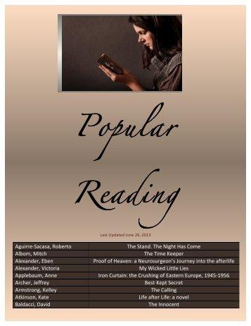 Popular Reading