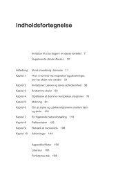 Læs bogens indholdsfortegnelse her (pdf) - Forlaget Mindspace