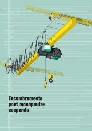 Encombrements pont monopoutre suspendu - Techni-Contact