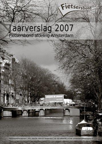 Jaarverslag 2007 - Fietsersbond Amsterdam
