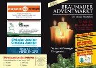 Veranstaltungs- Programm REDINGER - in Braunau am Inn