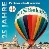Chronik: 25 Jahre Partnerschaftsverein - Baden-Baden