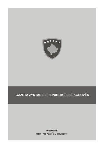 GAZETA ZYRTARE E REPUBLIKËS SË KOSOVËS - Këshilli ...