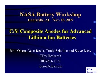 C/Si Composite Anodes for Advanced Lithium Ion Batteries