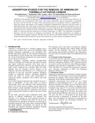 adsorption studies for the removal of ammonia by thermally ...