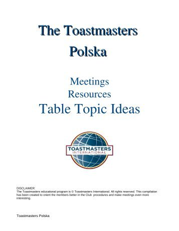 table topics ideas toastmasters szczecin passionate speakers jpg 357x462 funny passionate topics