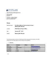 (1) Port Mann Marine Communication Group Meeting #29: Minutes ...
