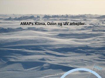 AMAPs Klima, Ozon og UV arbejder - Aarhus Universitet