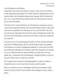 Liebe Kolleginnen und Kollegen, - Alternativedamm.de
