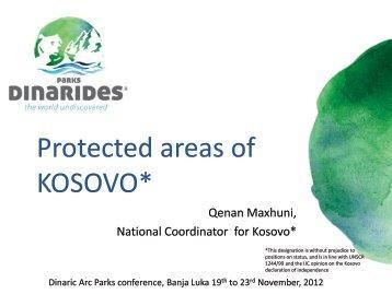 Kosovo - Dinaric Arc parks