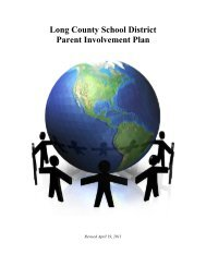 Long County School District Parent Involvement Plan