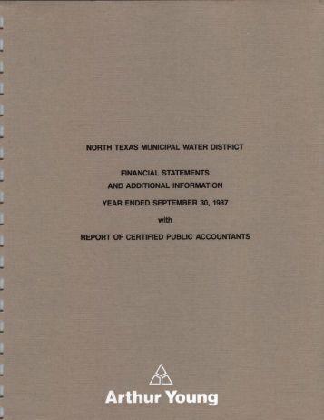 1987-09-30 - North Texas Municipal Water District