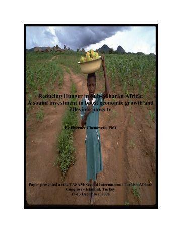 Reducing Hunger in Sub-Saharan Africa - TASAM Afrika Enstitüsü