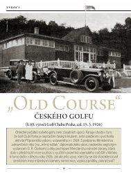 (k 85. výro í Golf Clubu Praha, zal. 15. 3. 1926) - Golfarch.cz
