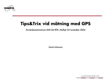 Tips&Trix - Swepos - Lantmäteriet