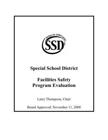 Special School District Facilities Safety Program Evaluation