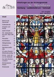 223. Ausgabe - April-Mai 2013 - Evangelisch-Lutherische ...
