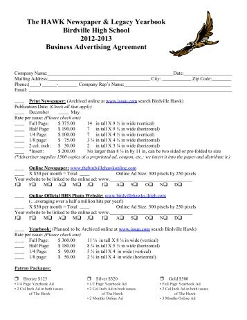 Website Advertising Agreement And Contract  Sierra Vista Chamber
