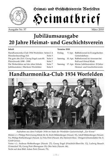 Handharmonika-Club 1934 Worfelden Jubiläumsausgabe 20 Jahre ...
