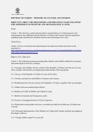 republic of turkey - ministry of culture and tourism directive about the ...