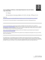Two Late Pleistocene-Holocene Archaeological ... - in-africa.org