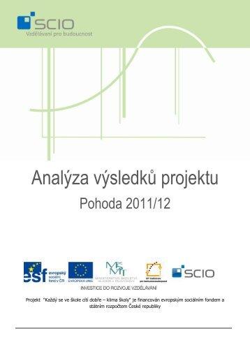 Analýza výsledků projektu - Pohoda - Scio
