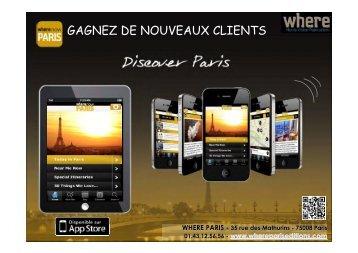 Télécharger le media kit - Where Paris