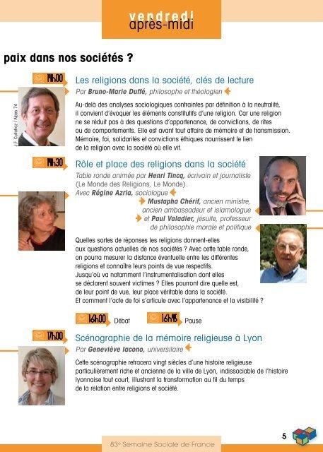 Programme de la session - Les Semaines Sociales de France