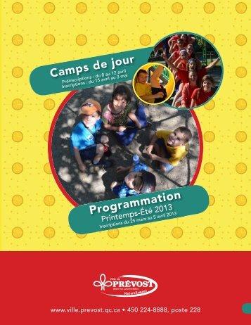 Programmation - Printemps-été 2013 - Prévost