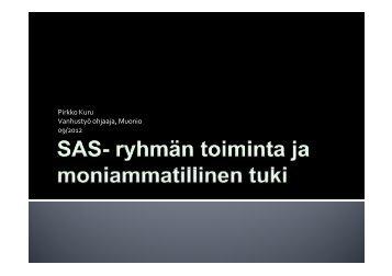 Pirkko Kuru: SAS -työryhmän toiminta ja ... - Sosiaalikollega