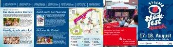 17.-18. August www.stadtfest.aurich.de - Stadt Aurich
