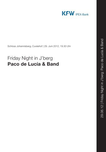 Rheingau Musik Festival Programmheft 29.6.2012 Paco de