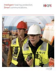 Intelligent hearing protection. Smart communications. - Howard Leight