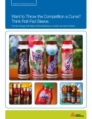 Think Roll-Fed Sleeve. - Dairy Foods Magazine