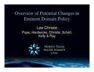 Overview of Potential Changes in Eminent Domain Policy