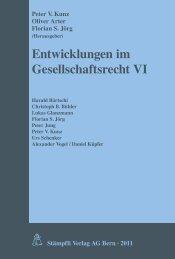 Entwicklungen im Gesellschaftsrecht VI - Baker & McKenzie
