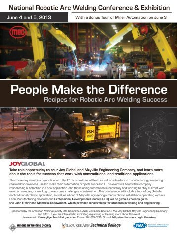 People Make the Difference - American Welding Society
