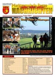 Gemeinde - Nachrichten Nr. 5/2011 - Regau