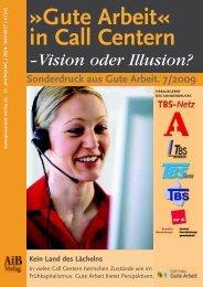 """""""Gute Arbeit"""" in Call Centern – Vision oder Illusion? - Ergo-Online"""