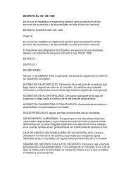 DECRETO No. 951 DE 1989 por el cual se establece el reglamento ...